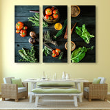 3 piece Bio Healthy Food wall art