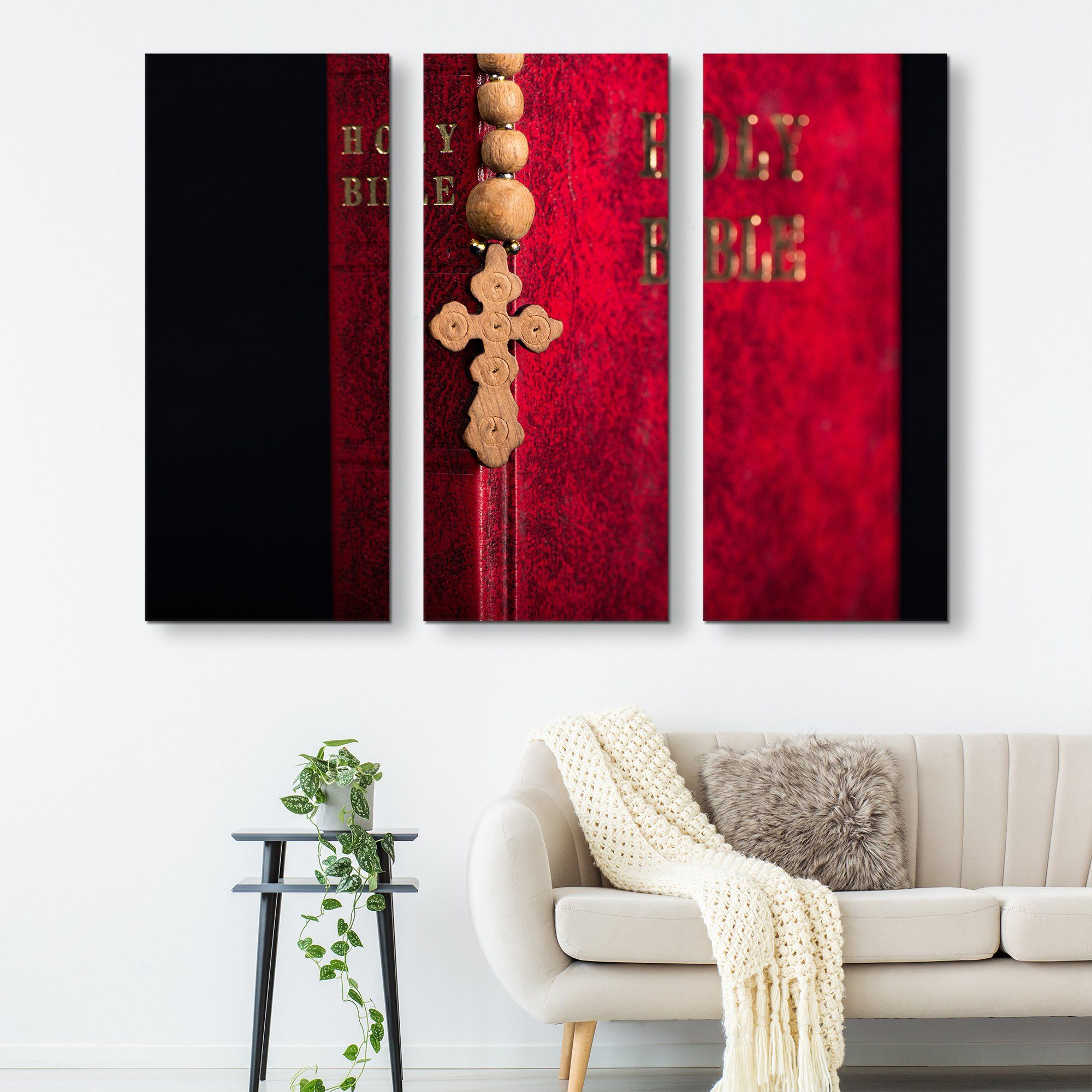 3 piece The Holy Bible wall art