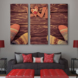 3 piece Socks for Love wall art