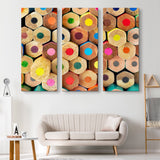 3 piece Colored Pencils wall art