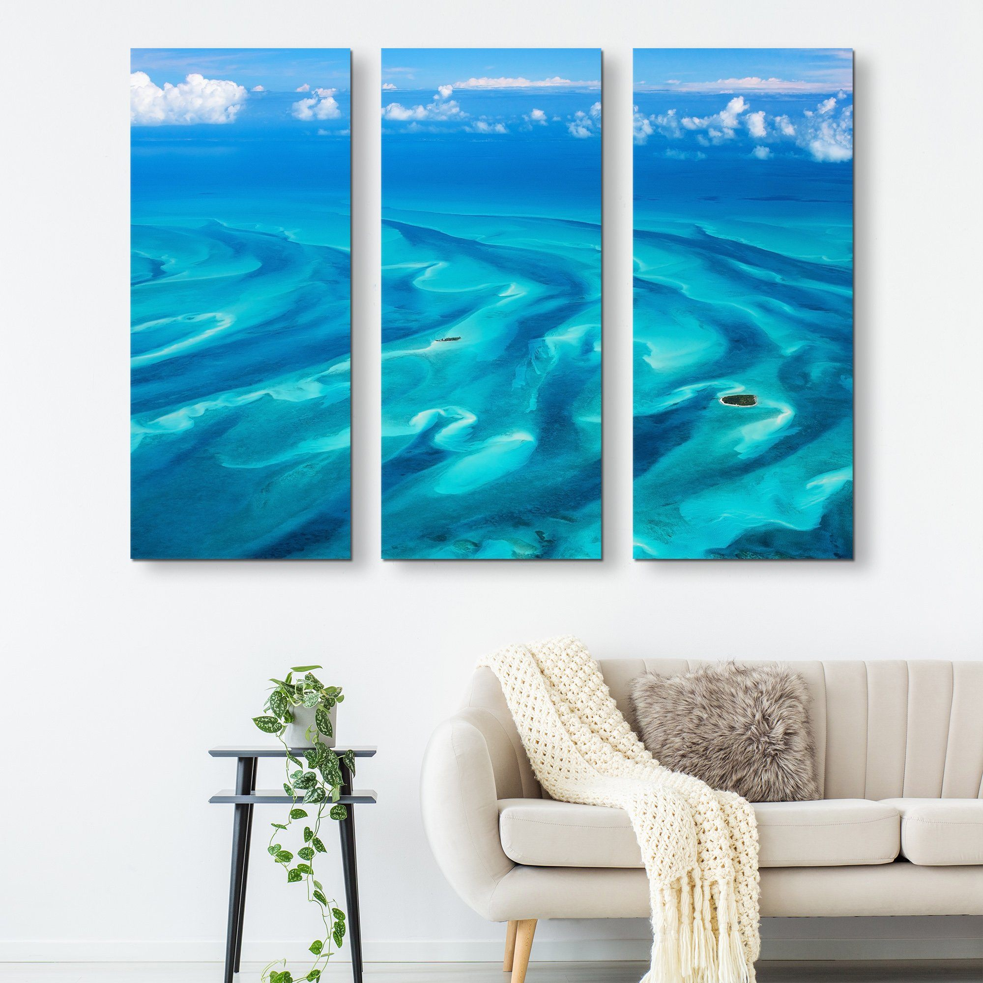 3 piec eBeautiful Bahamas wall art
