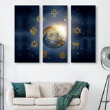 3 piece Religious World wall art