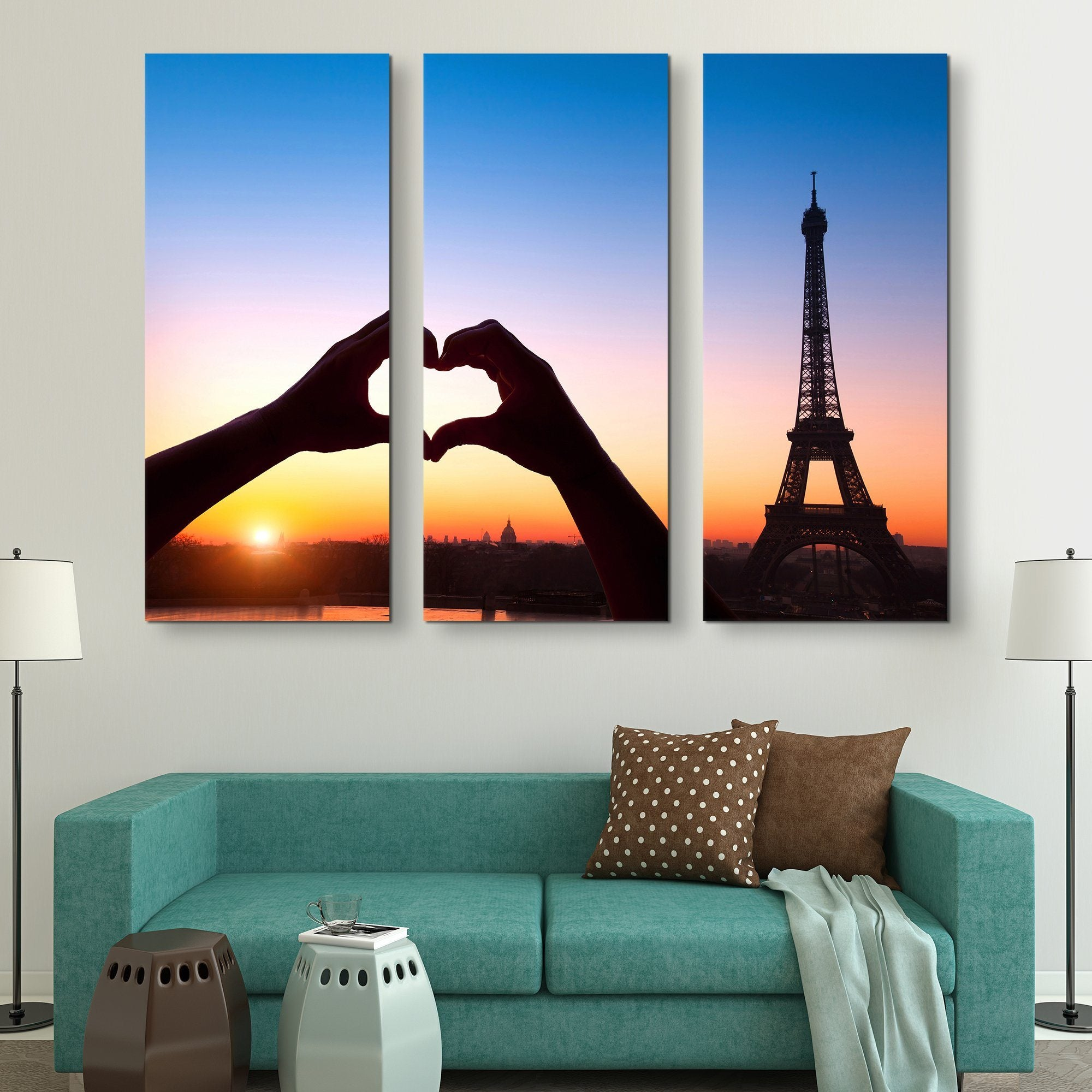3 piece Love in Paris wall art