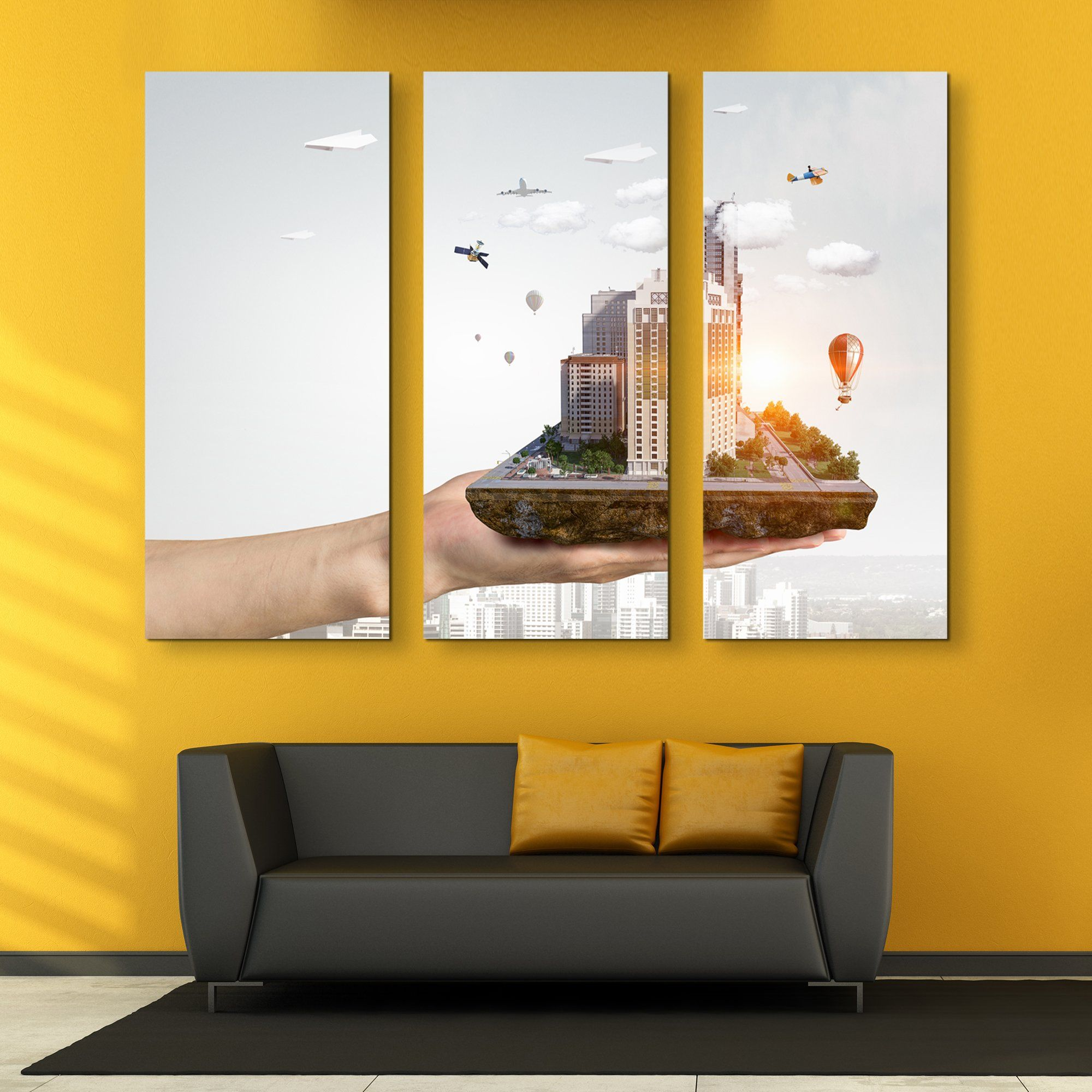 3 piece In the Palm of Your Hand wall art