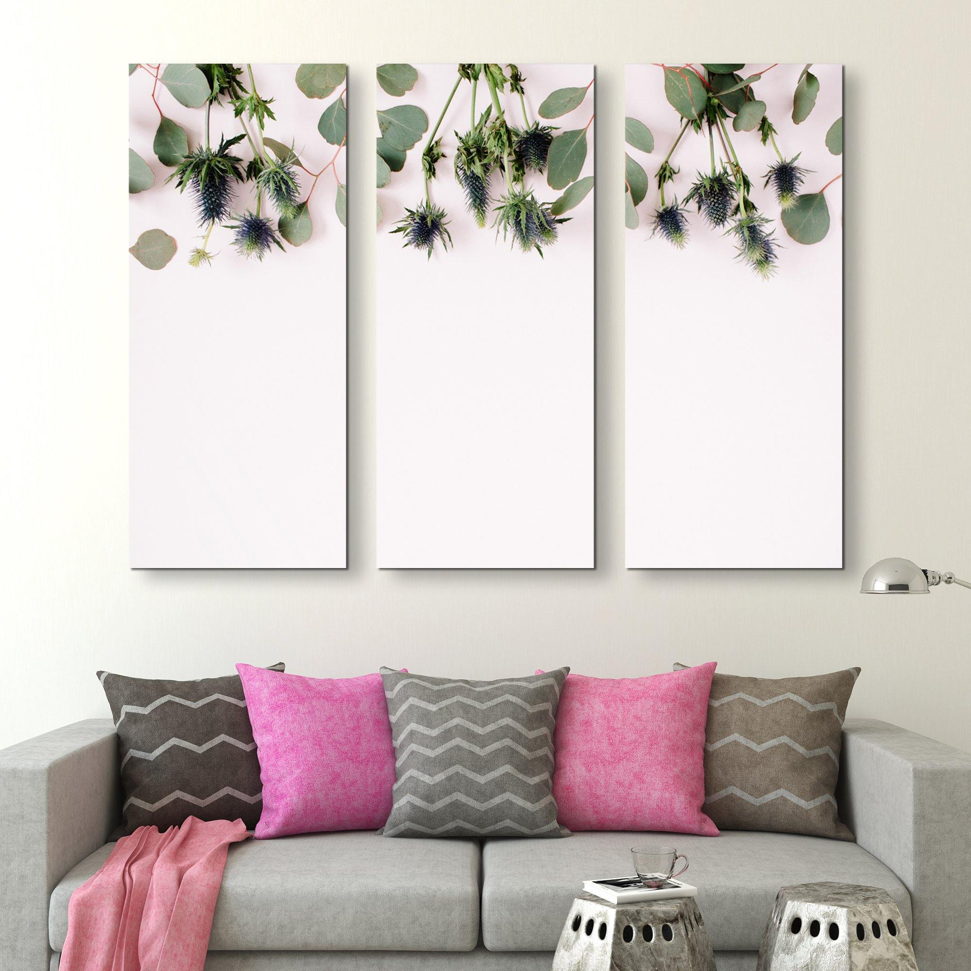 3 piece Eucalyptus Branches wall art