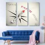 3 piece Point on Faith wall art