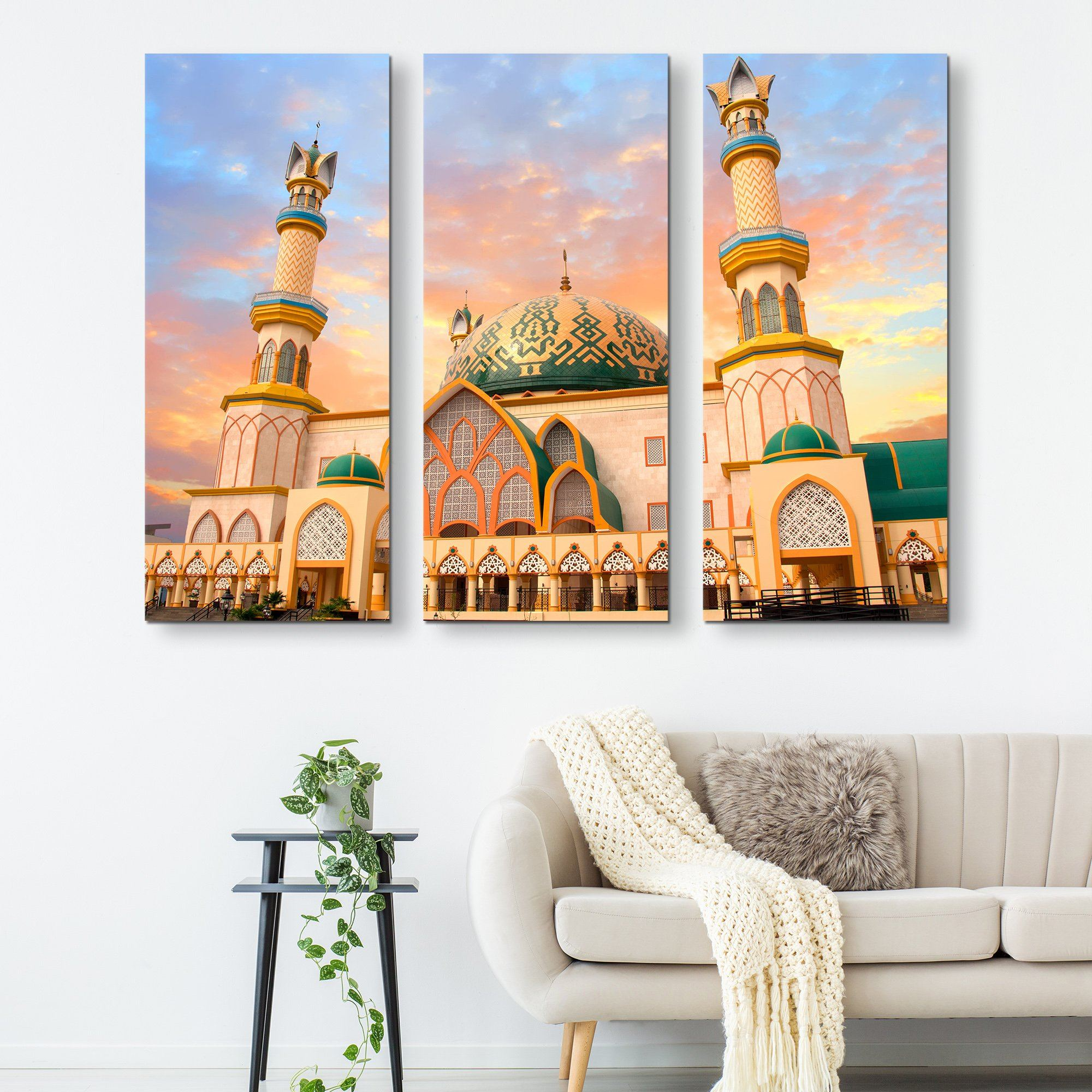 3 piece Indonesia Mosque wall art