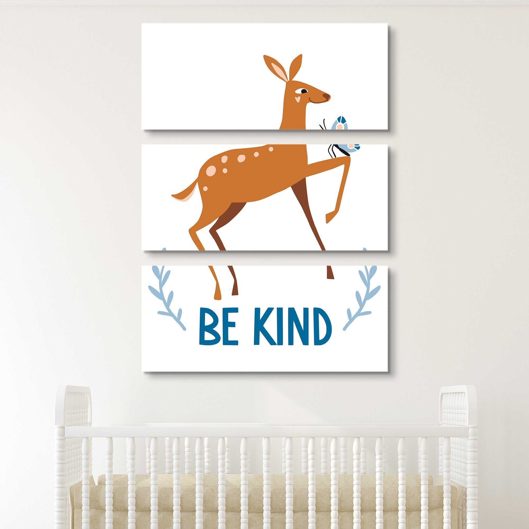 3 piece Be Kind wall art