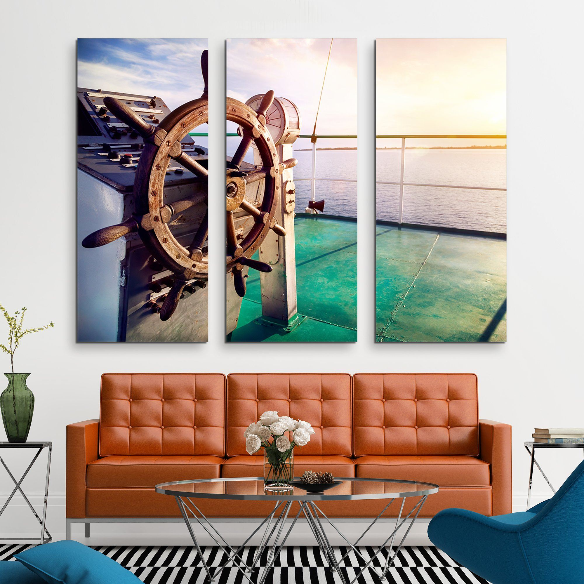 3 piece Issyk Kul Lake wall art