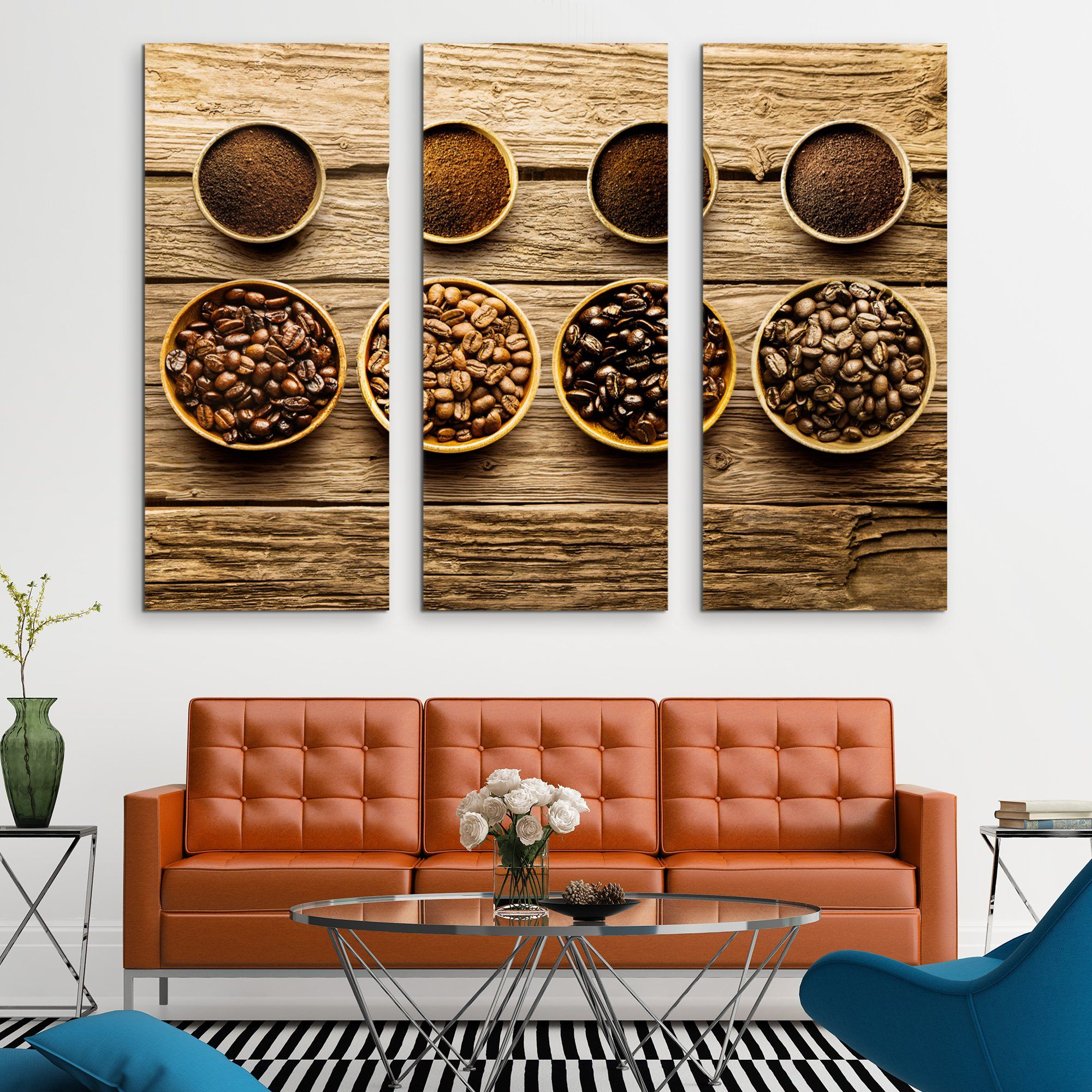 3 piece Coffee Beans wall art