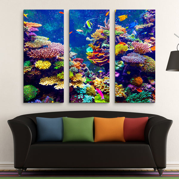 3 piece Coral Reef wall art