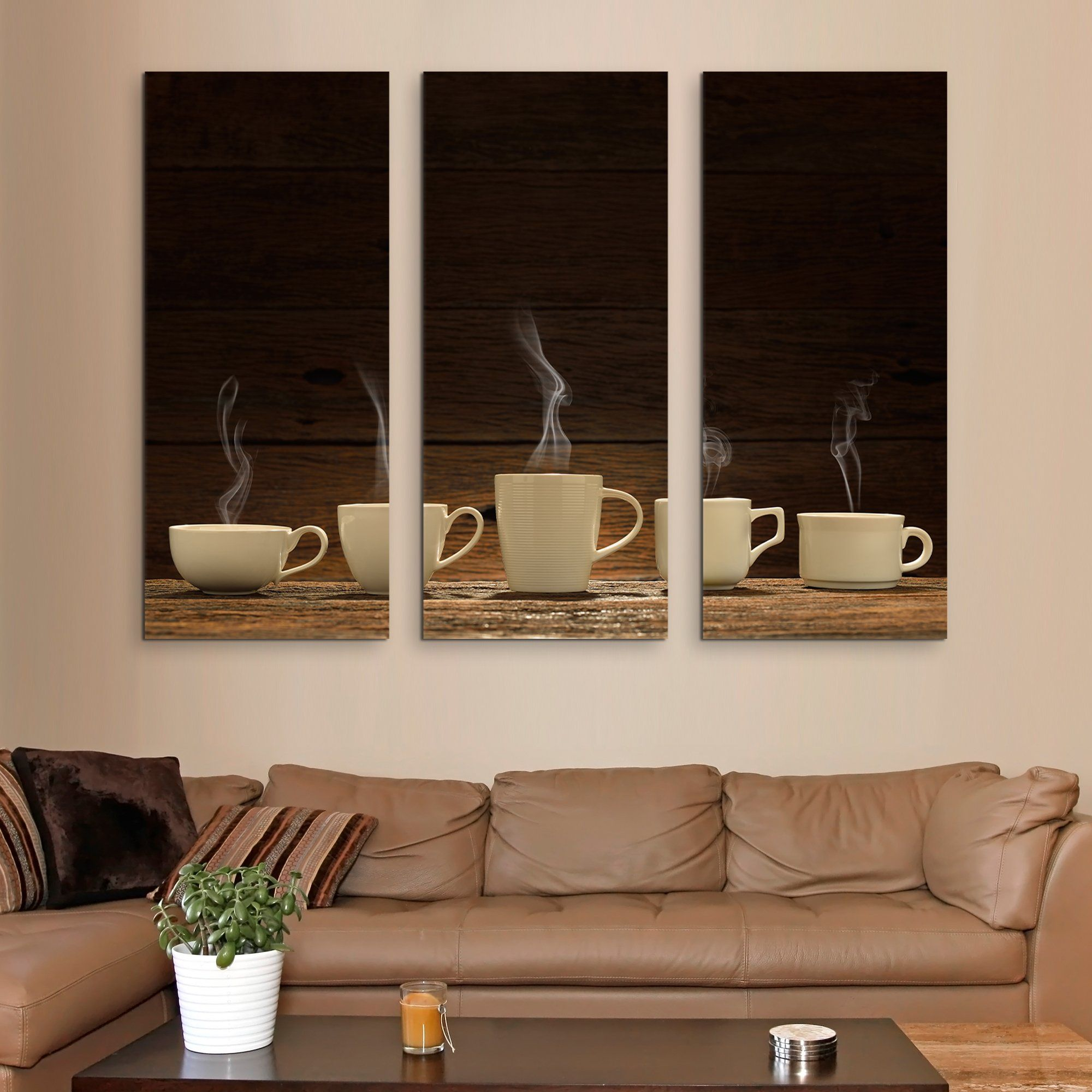 3 piece Variety of Cups wall art