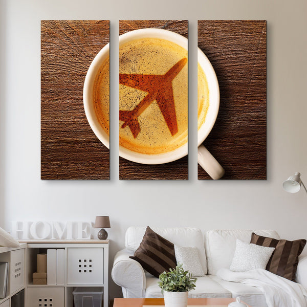 3 piece Airport Coffee wall art