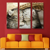 3 piece Kitten Hugs wall art