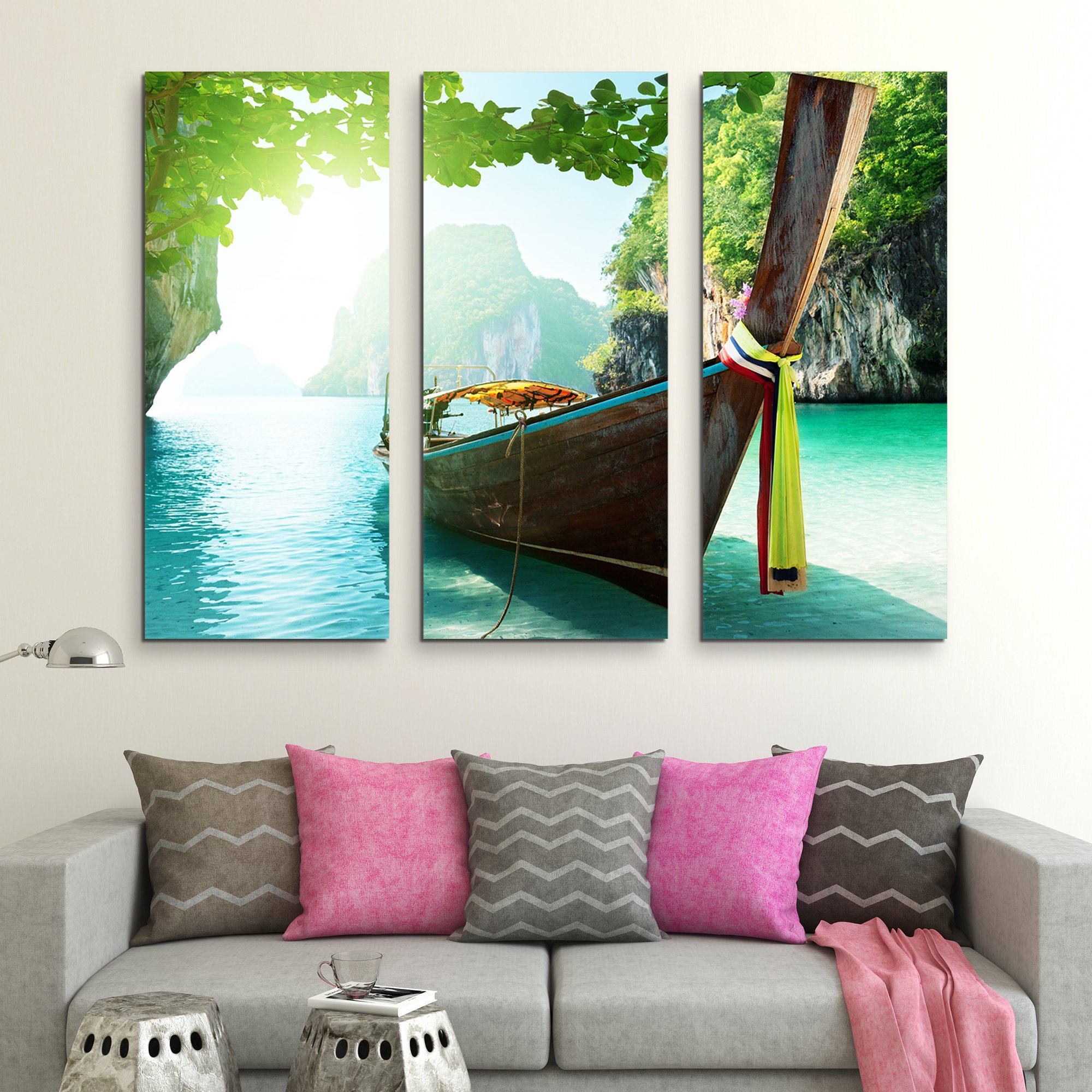 3 piece Andaman Islands wall art