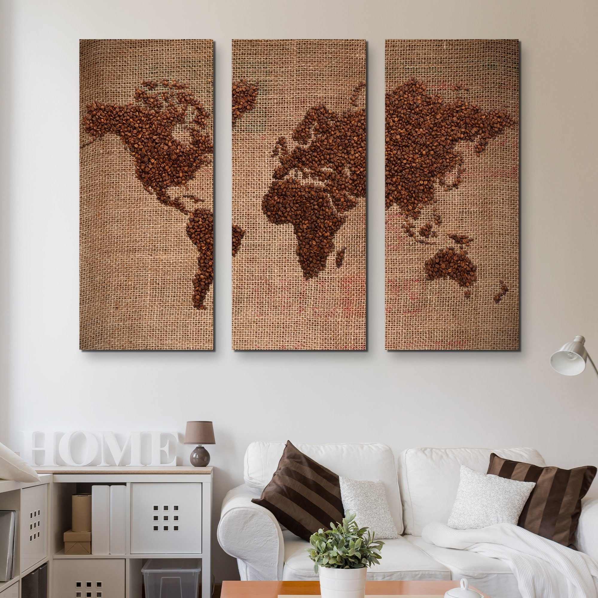 3 piece World of Coffee wall art