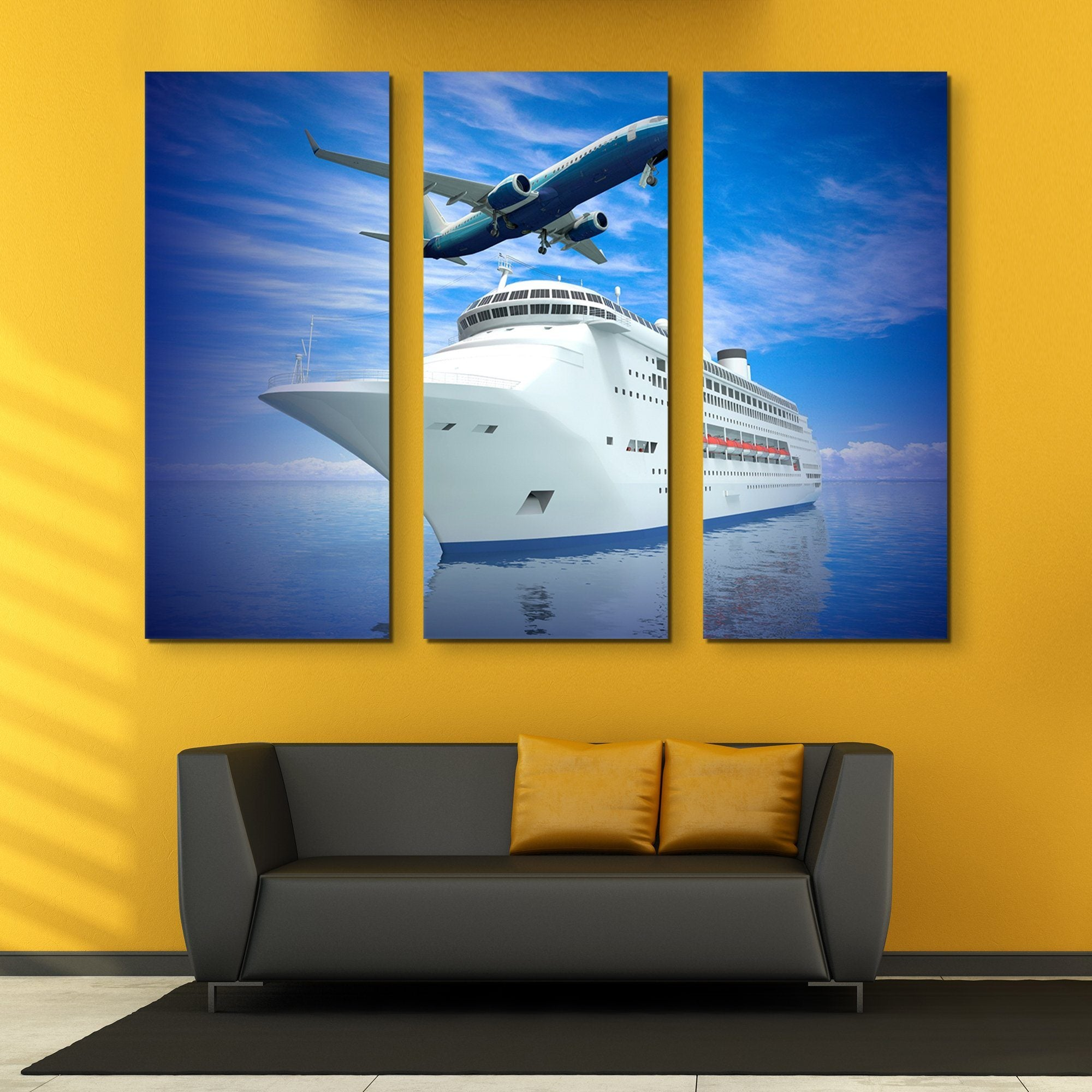 3 piece Luxury Transportation wall art