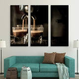 3 piece Coffee Machine wall art