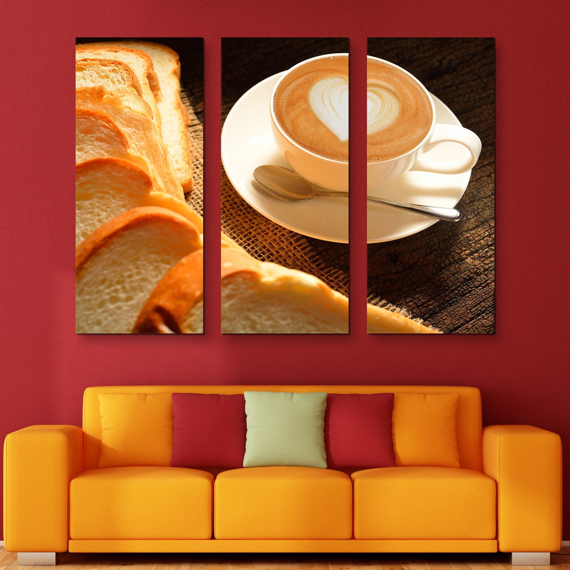 3 piece Some Bread and Latte wall art