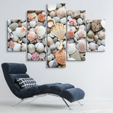5 piece Seashells by the Seashore wall art