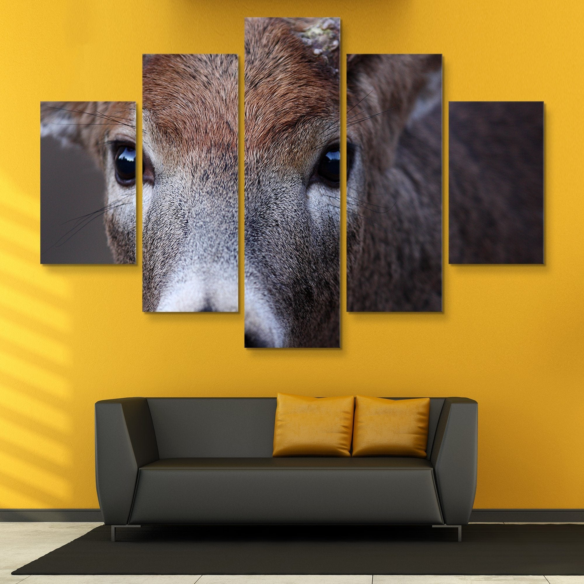 5 piece Buck wall art