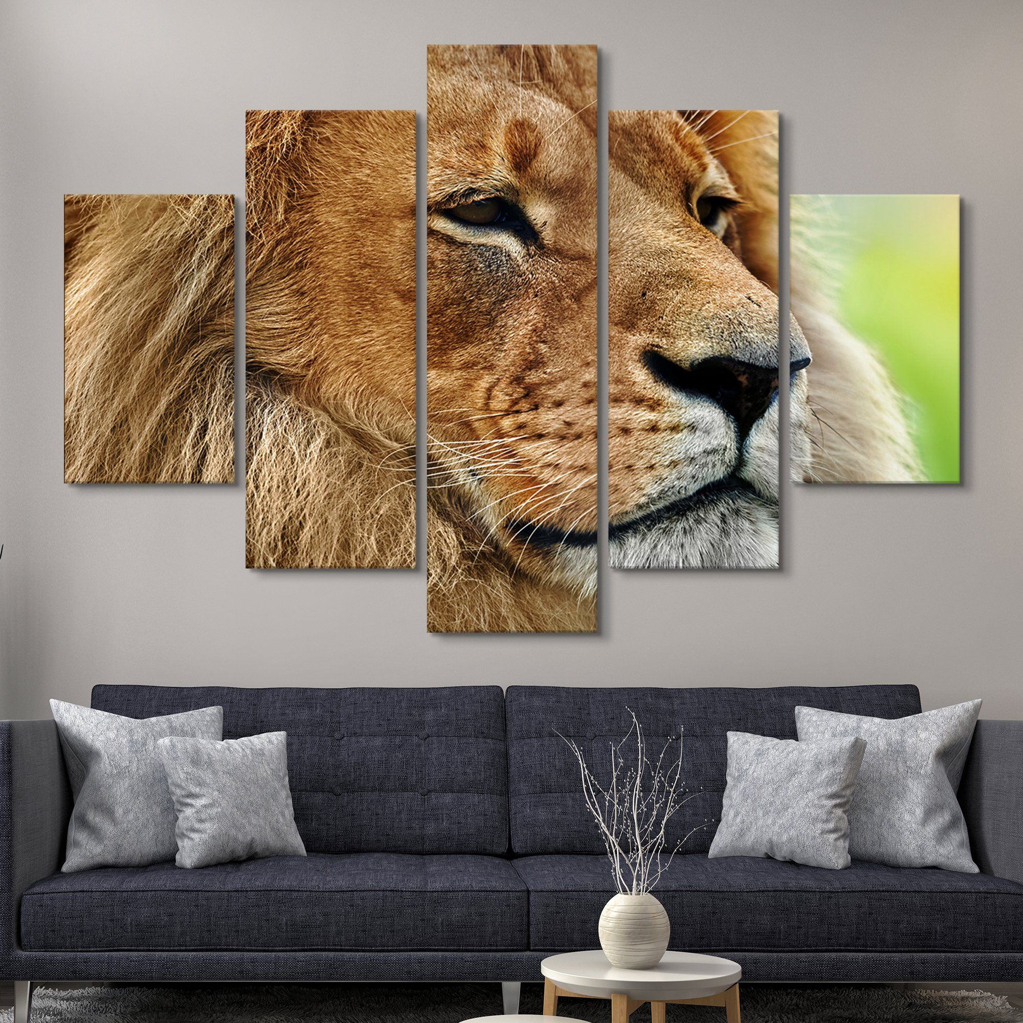 5 piece Like a True King wall art