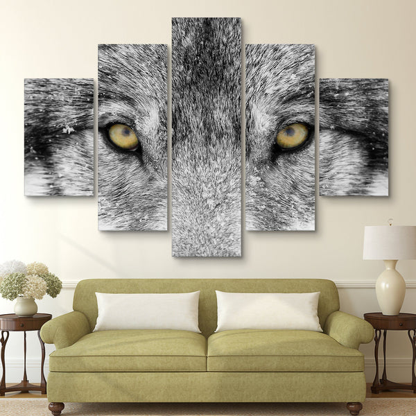 5 piece Timber Wolf wall art