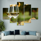 5 piece Wine at a Grazing Table wall art