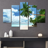 5 piece living island wall art