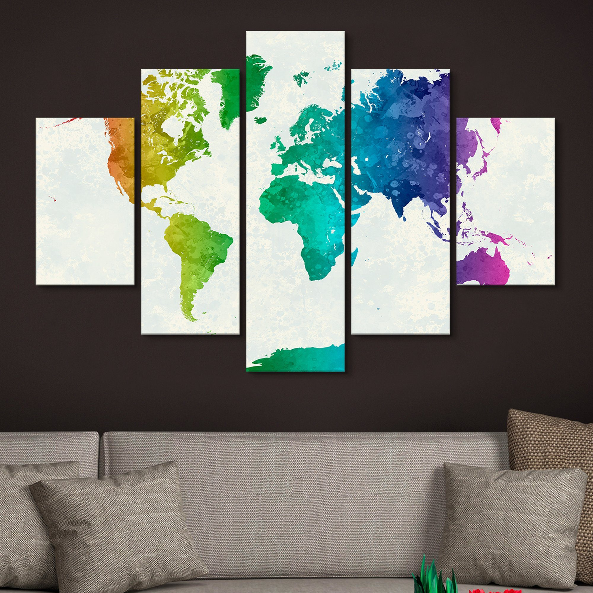 map of colors home art