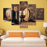 5 piece Elements of Wine wall art