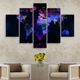 5 piece Ethereum Black Marble Series wall art