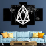 5 piece EOS Black Marble Series wall art