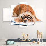 5 piece Cocker Spaniel wall art