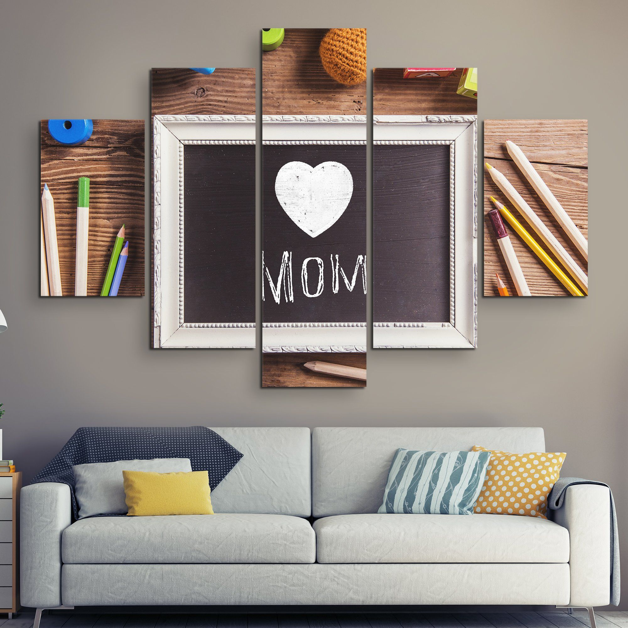 5 piece Happy Mother's Day wall art