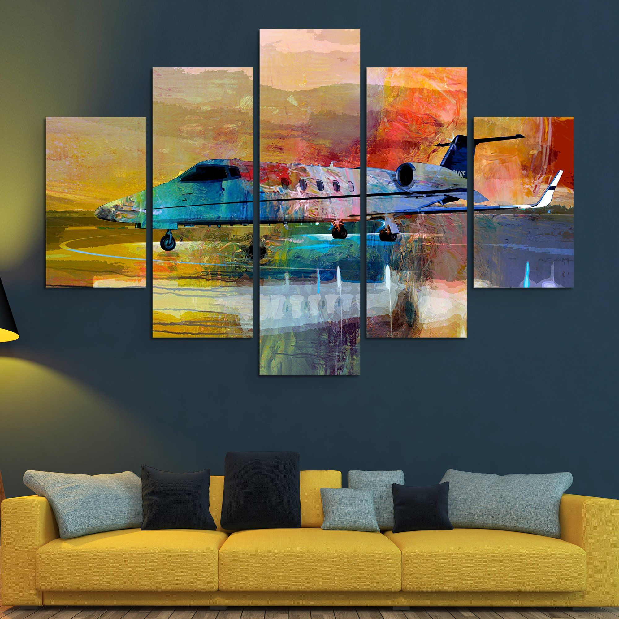 5 piece Jet Dreams wall art