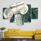 5 piece greek column wall art