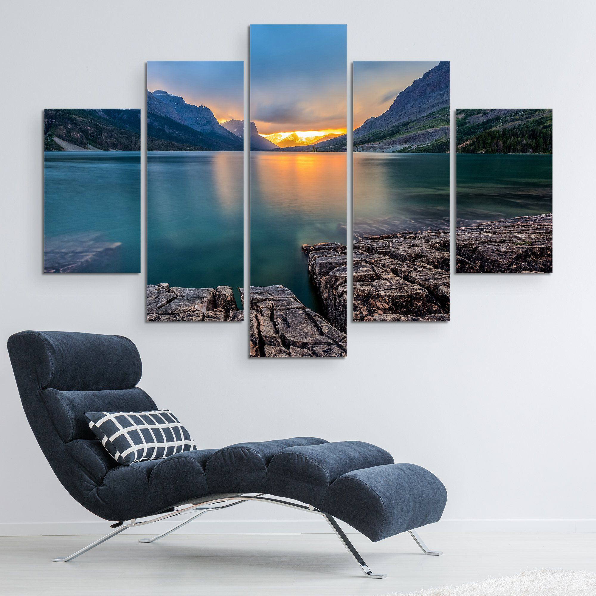 St Mary Lake - Glacier National Park wall art 5 piece