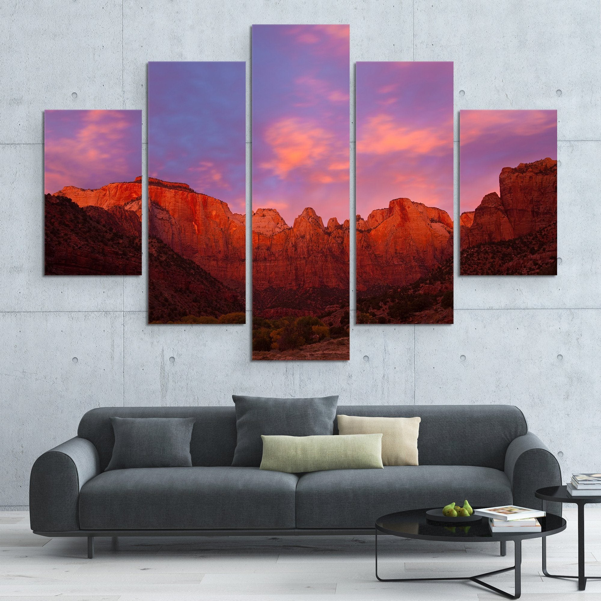 Towers of Virgin wall art  5 piece