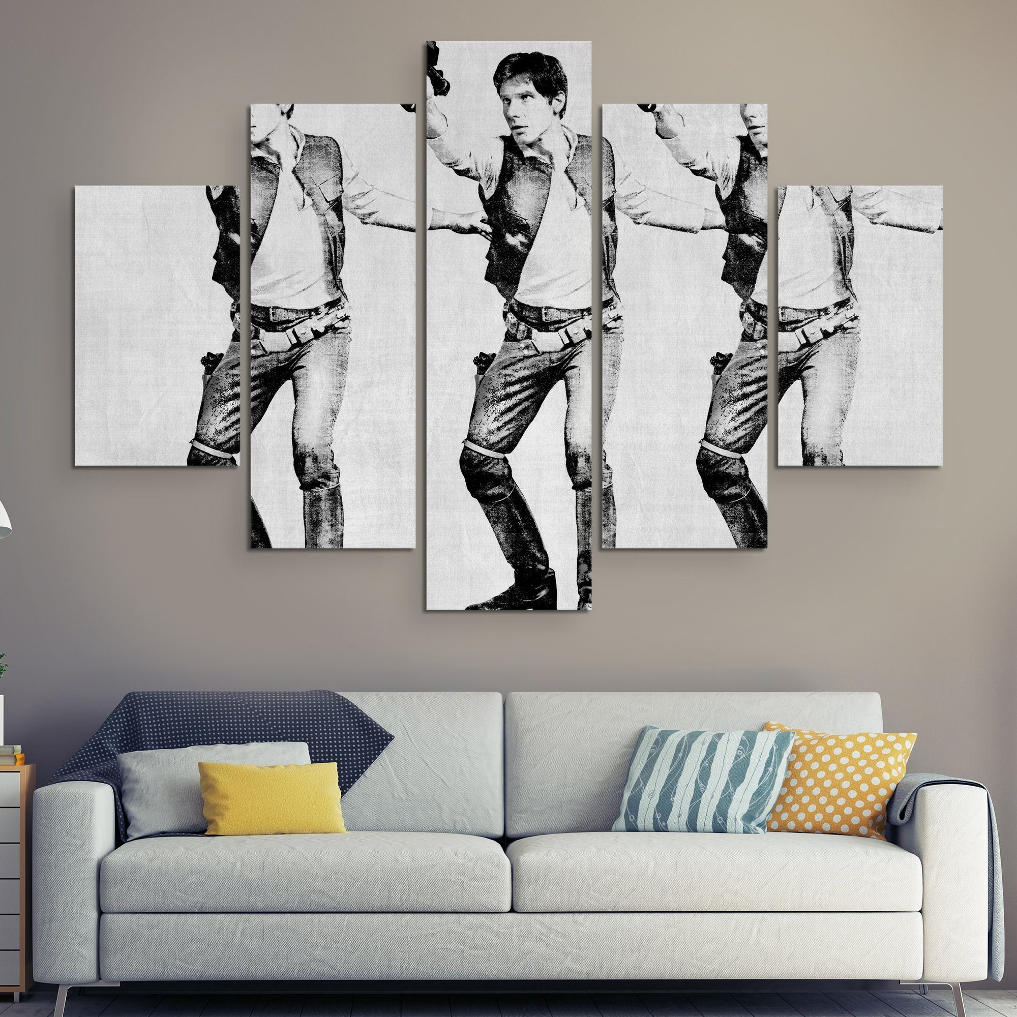 5 piece han solo wall art