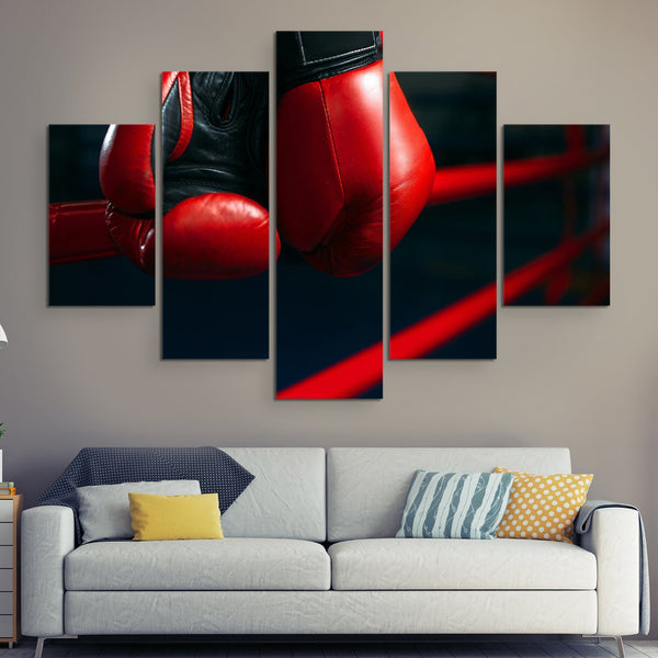 5 piece Boxing Gloves wall art