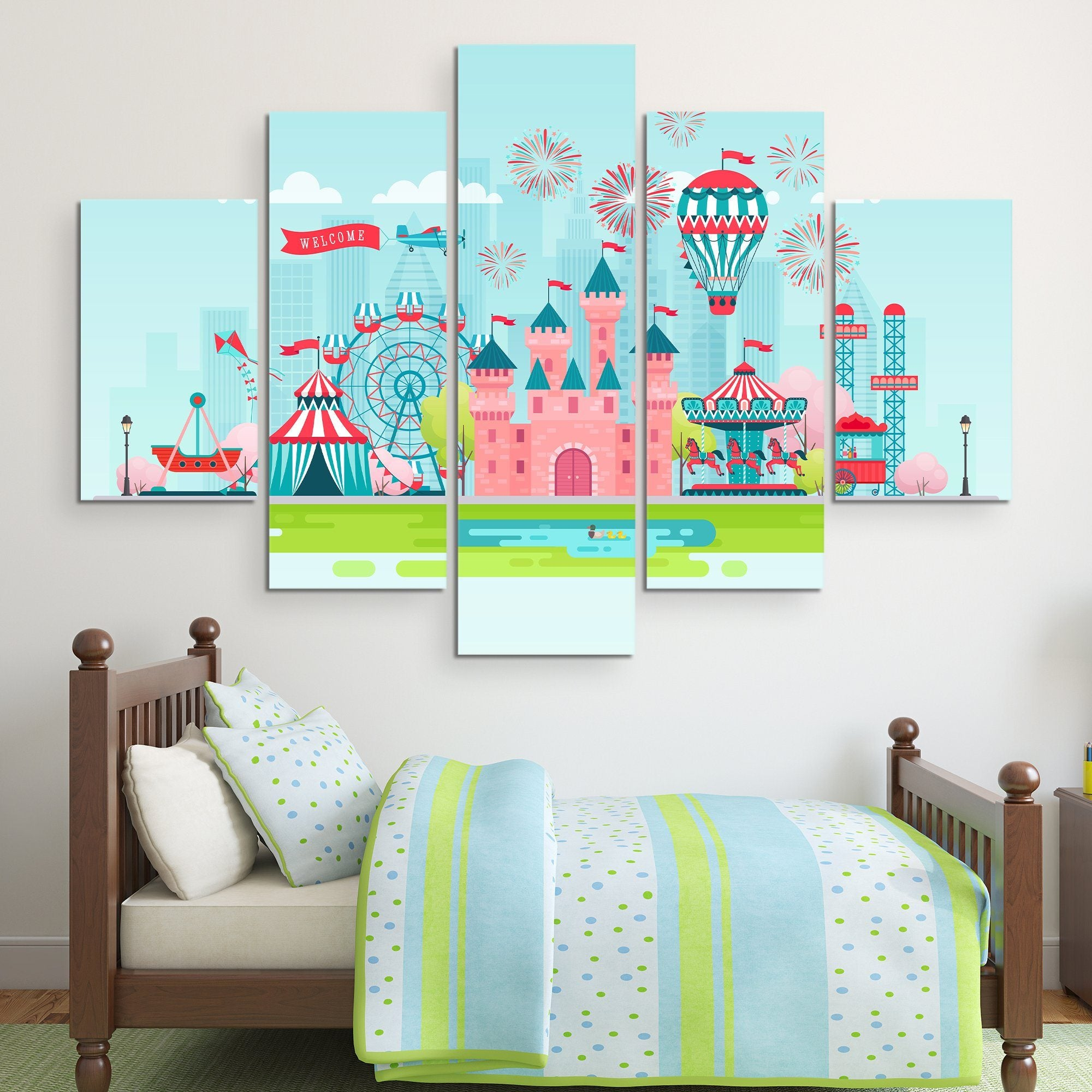 5 piece Dream Castle wall art