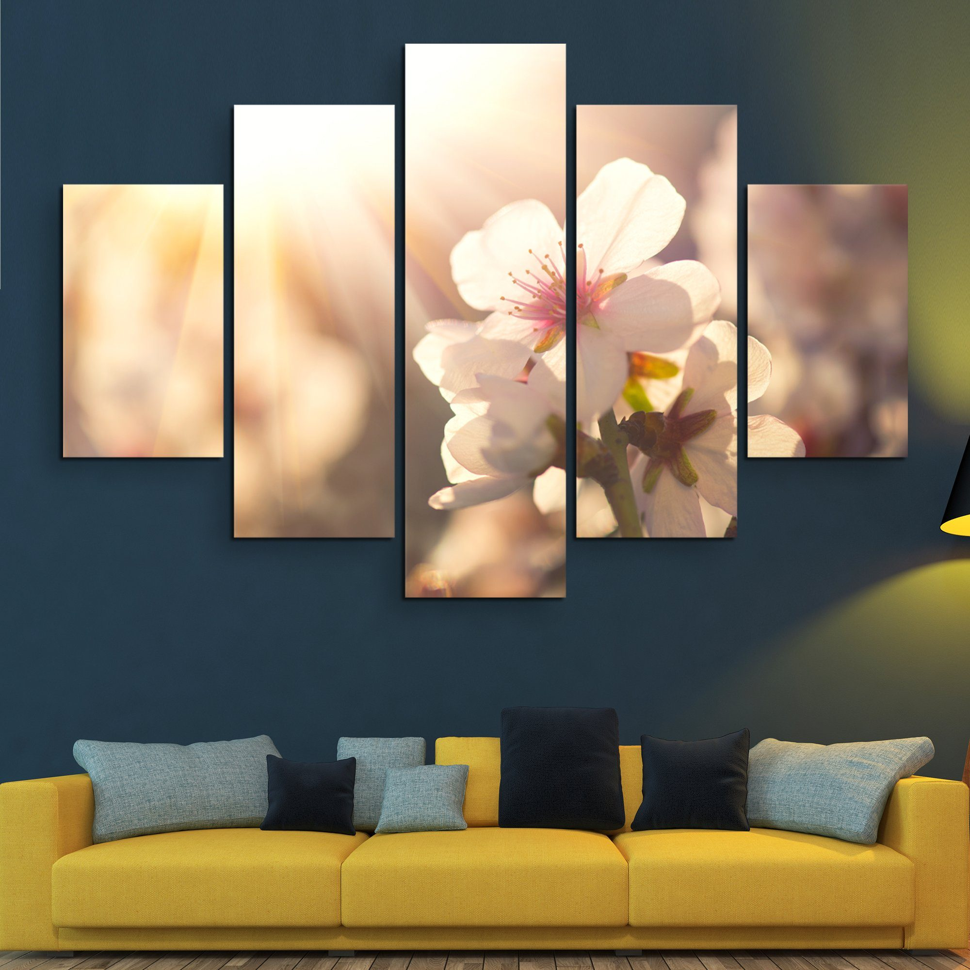 5 piece Spring Blossom wall art