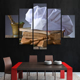 5 piece Chef's Hat wall art