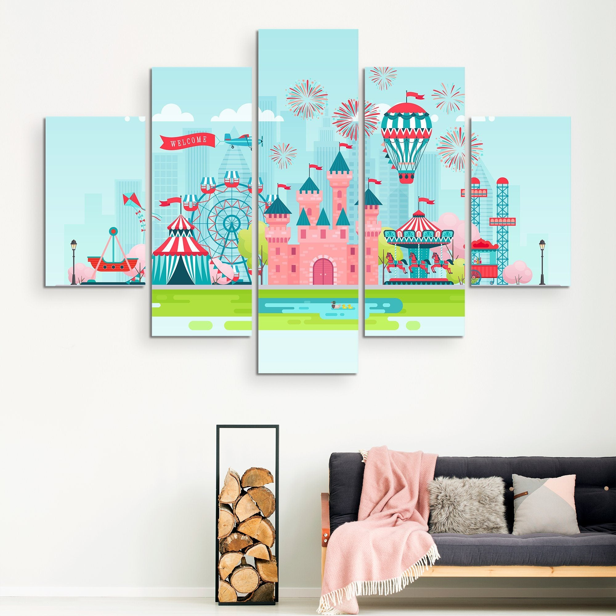 5 piece Kids Zone wall art