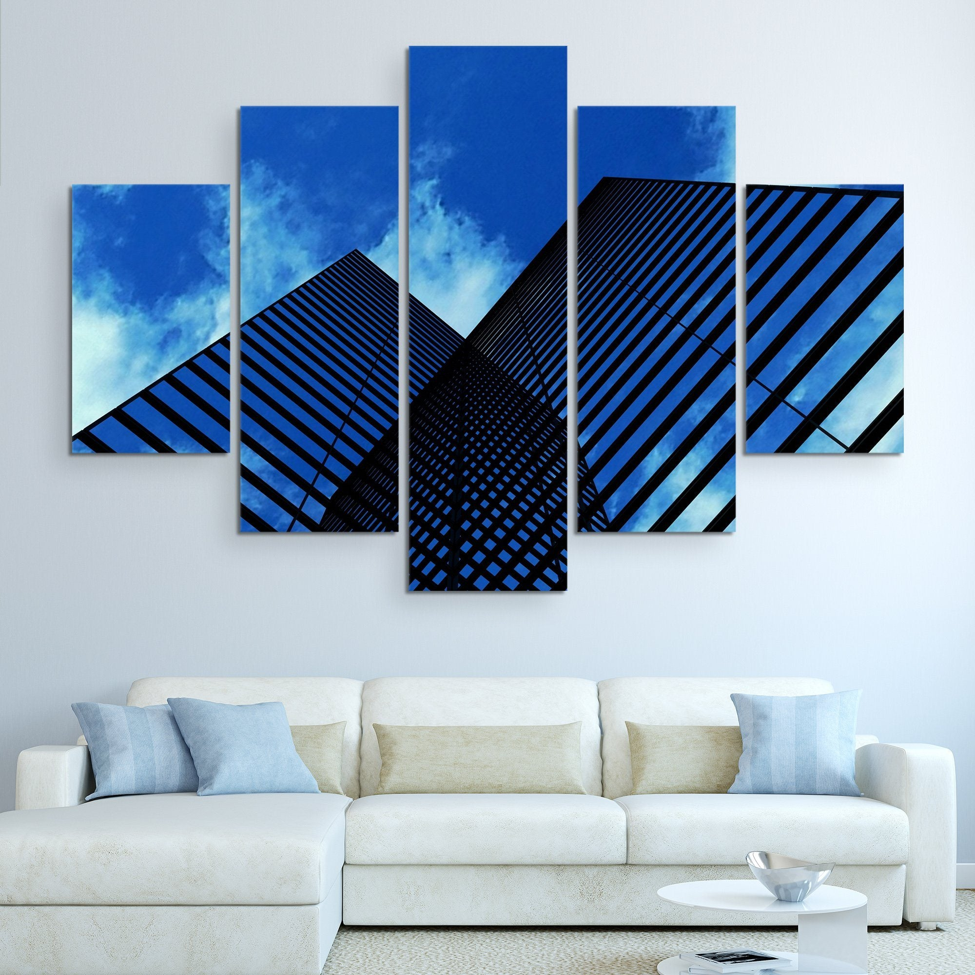 5 piece Skyscrapers Reflection art