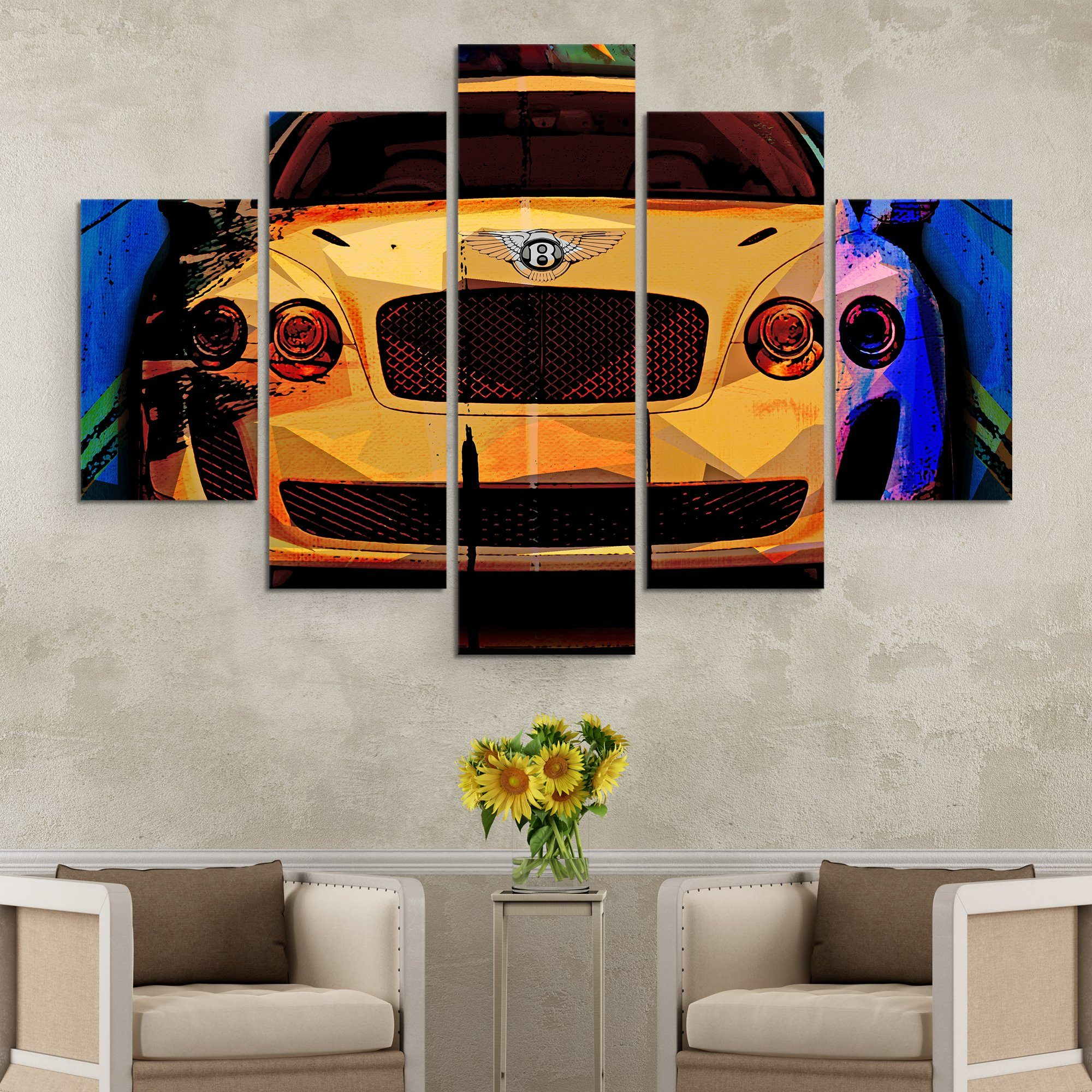 5 piece Bentley Super Sport wall art