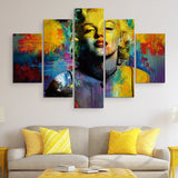 5 piece Marilyn Monroe wall art