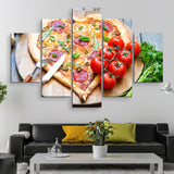 5 piece Pizza Lover wall art