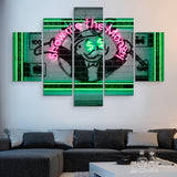 5 piece Show Me The Money wall art
